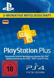 Playstation PLUS 3 Monate / 90 Tage