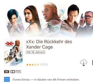 XXX the Return of xander cage auf iTunes in 4K uhd