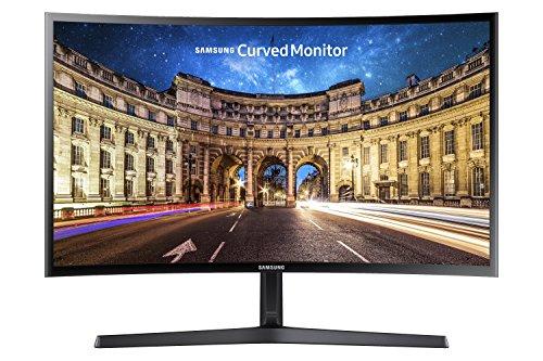 [nbb] Samsung LC24F396FHUXEN 23,5 Zoll Curved LCD Full HD Monitor (VA-Panel, 60Hz, AMD FreeSync, HDMI, 4 ms) in schwarz-glänzend