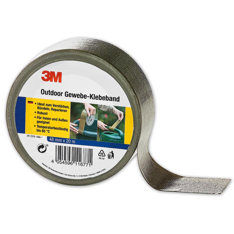 3M Outdoor-Gewebe-Klebeband, 3M Verpackungs-Klebeband 3er-Set, 3M Reparaturband-Set 4tlg., Doppelseitiges Klebeband 2er-Set, für jeweils für 2,99 Euro [Norma]