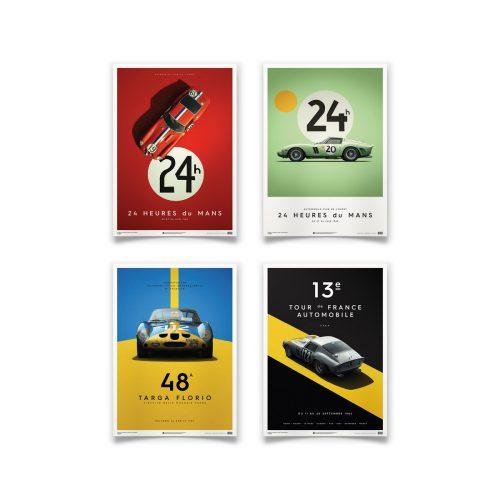 """4 Poster """"Automobilist's Poster Collection"""" (50x70 cm), Auswahl aus 70 Kunstdrucken"""