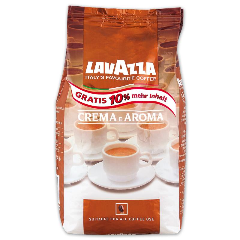 Lavazza Crema e Aroma mit 10% mehr Inhalt für 8,99 Euro [Norma]