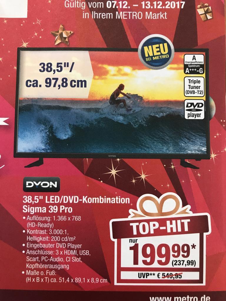"(Metro Dresden) Dyon Sigma 39 Pro 38,5"" LED/DVD Kombination"