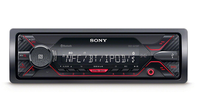 Sony DSX-A410BT MP3 Autoradio mit Bluetooth, NFC, USB, AUX Anschluss und iPod/iPhone Control rote beleuchtung für 59,99 € > [conrad.de]