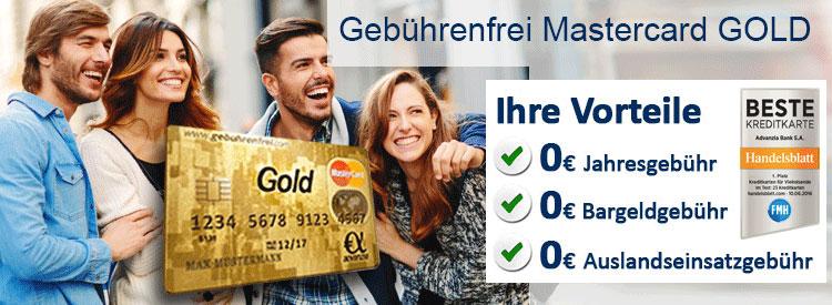 Advanzia Gebührenfrei Mastercard GOLD | 25€ Startguthaben | 100% Gebührenfrei | Kein Auslandseinsatzentgelt | 5% auf Reisen und Mietwagen