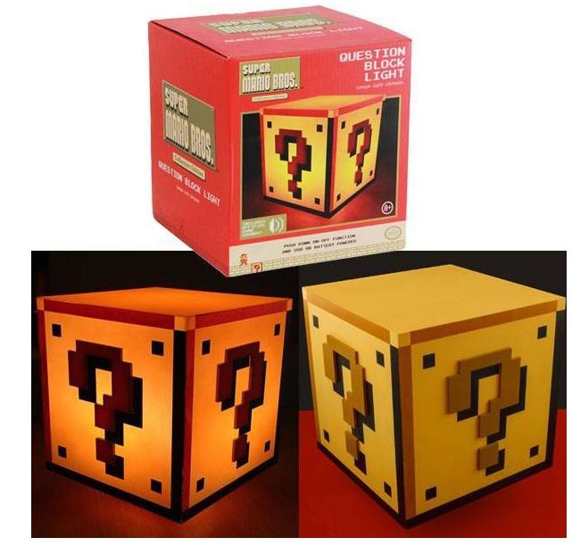 Super Mario Fragezeichen Dekolampe für 19,94€ bei Rakuten (10,99€ mit Paydirekt) - mit Licht und Sound