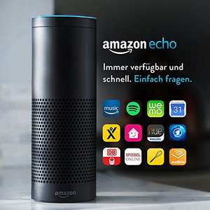 AMAZON ECHO stimmengesteuerter Lautsprecher 360° Sound WLAN, Bluetooth