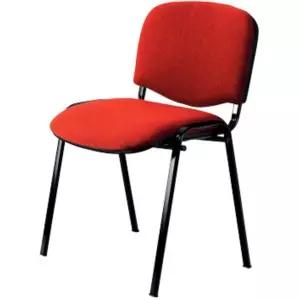 4 Stück Besucherstühle gepolstert rot schwarzes Stahlgestell für 37,95€ - bei 16 Stück 7,28€ je Stuhl [Viking]