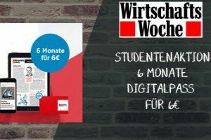 [Studenten] 6 Monate Wirtschaftswoche und 12 Monate Handelsblatt Digitalpass für 1€/Monat