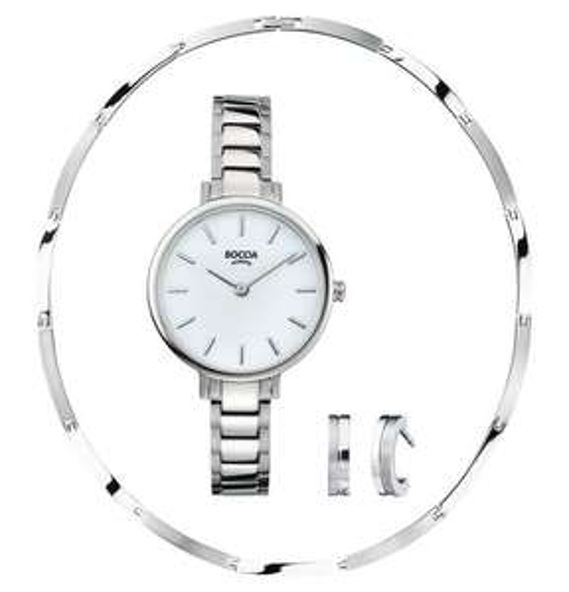[Galeria Kaufhof] Boccia-Set bestehend aus Uhr, Collier, Ohrstecker  +633 Payback Punkte  - bei Idealo kosten Collier + Ohrstecker schon 148 Euro