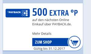 Payback 500 Punkte Extra bei jedem Onlineshop!