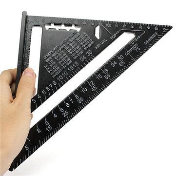 Raitool AR01 260x185x185mm Aluminiumlegierung Dreieck Lineal Schwarze