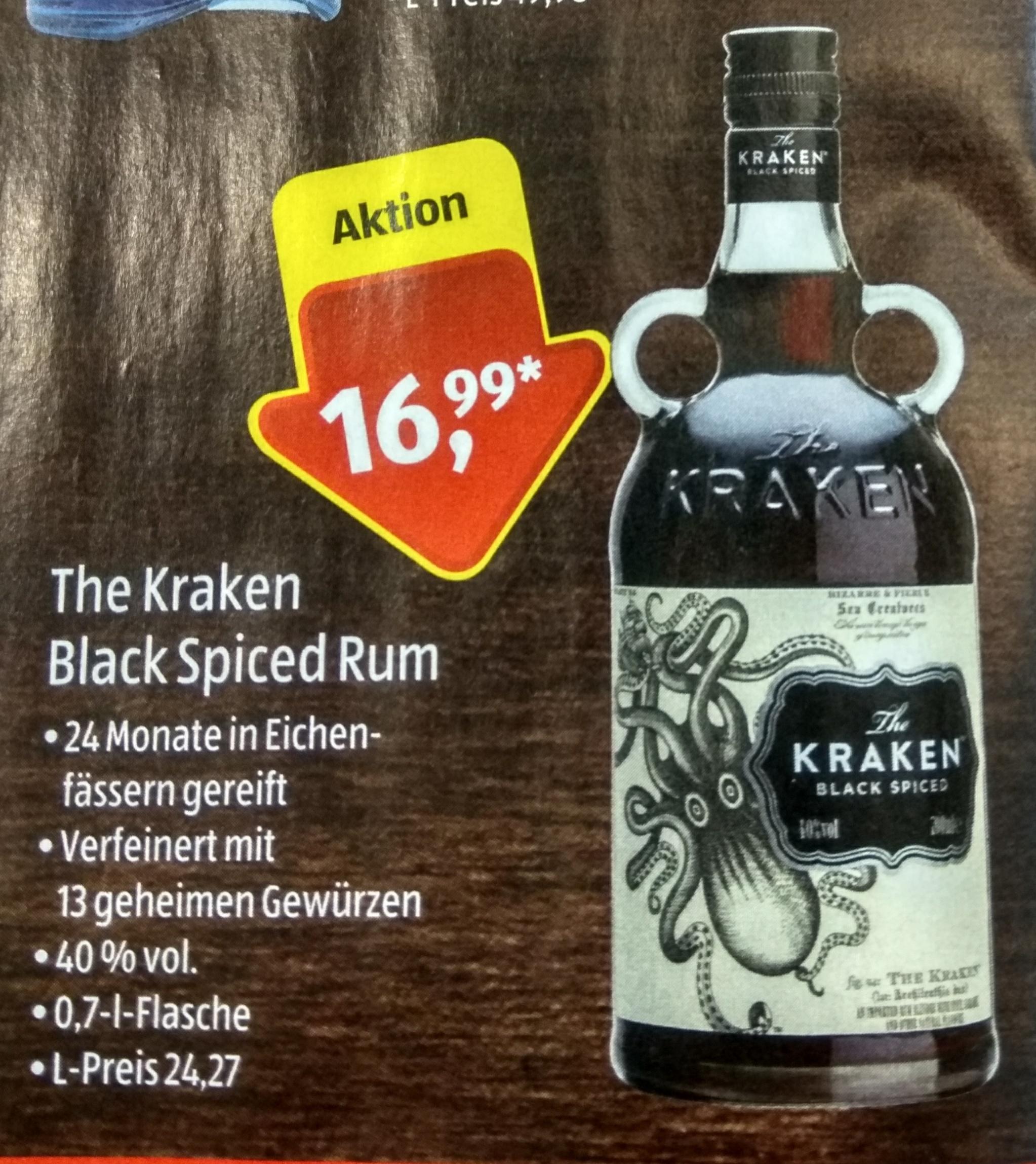 """The Kraken"" Rum bei Aldi Süd -0,7l- [Lokal]"