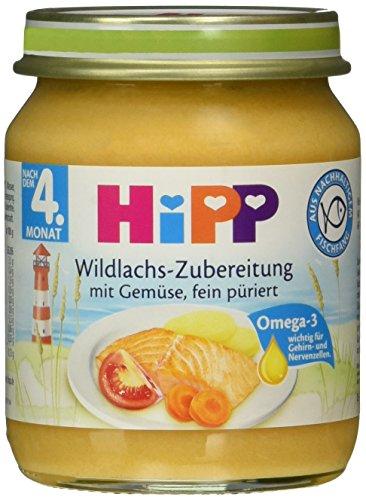 Amazon Pantry Box : 6er Hipp Wildlachs-Zubereitung mit Gemüse (125g) für 1,32EUR --> 36 Gläschen inkl VSK für 10,91EUR (~30Ct/Glas)