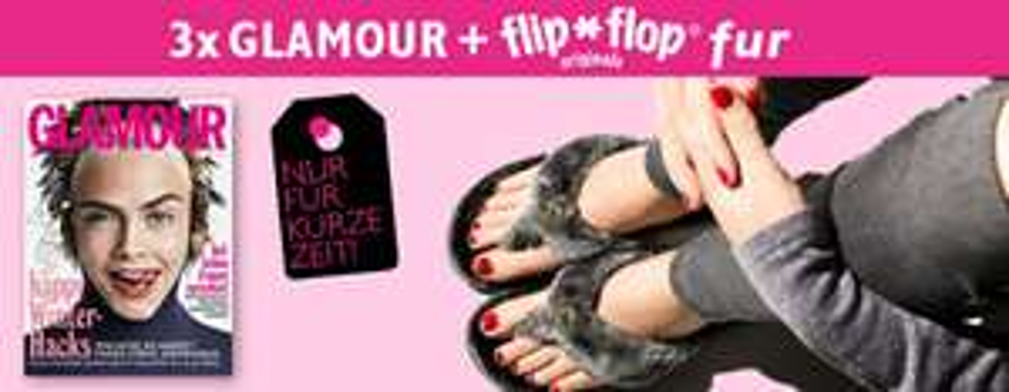 Kuschel-Flipflops + 3 Monate Glamour Abo