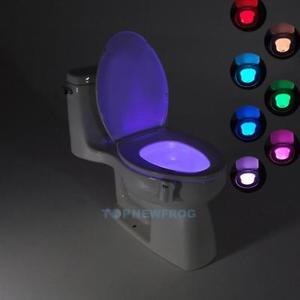 LED RGB Licht WC für den Gästeklo Toilette Sensor Nachtlicht Badezimmer Lampe