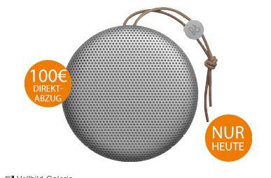 [Saturn] B&O PLAY by Bang & Olufsen BeoPlay A1 Bluetooth Lautsprecher (Wetterfest) in verschiedenen Farben für je 149,-€
