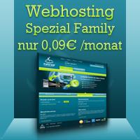 Wenbhosting incl. E-Mail und DE-Domain für dauerhaft 9 Cent pro Monat