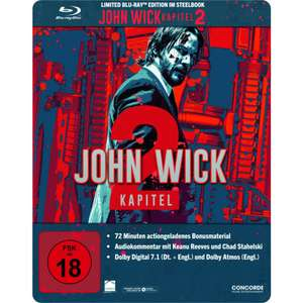 John Wick: Kapitel 2 Limited Edition Steelbook (Blu-ray) für 8€ & John Wick (Blu-ray) für 5€ (Müller + Amazon Prime)