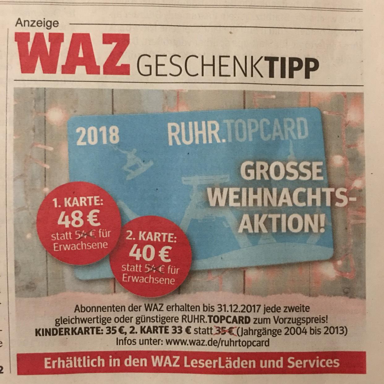 Ruhrtopcard für zeitungsbesitzer