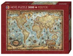 Heye The World Puzzle inkl. Poster