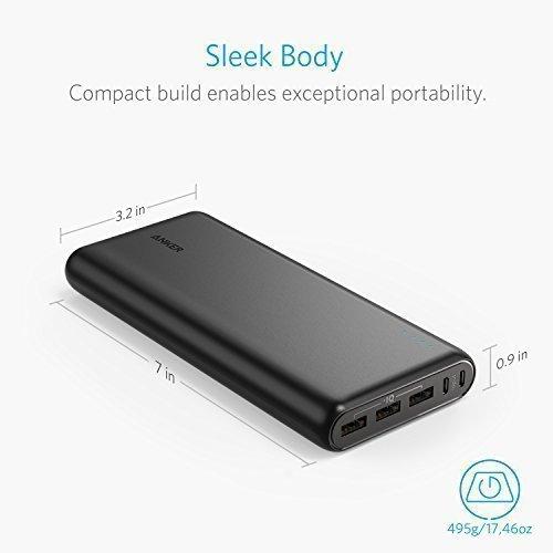 [amazon.fr] Anker PowerCore 26800mAh PowerBank mit Dual Input Ladeport (3x USB Ports mit PowerIQ, max. 6A, ohne QuickCharge) in schwarz