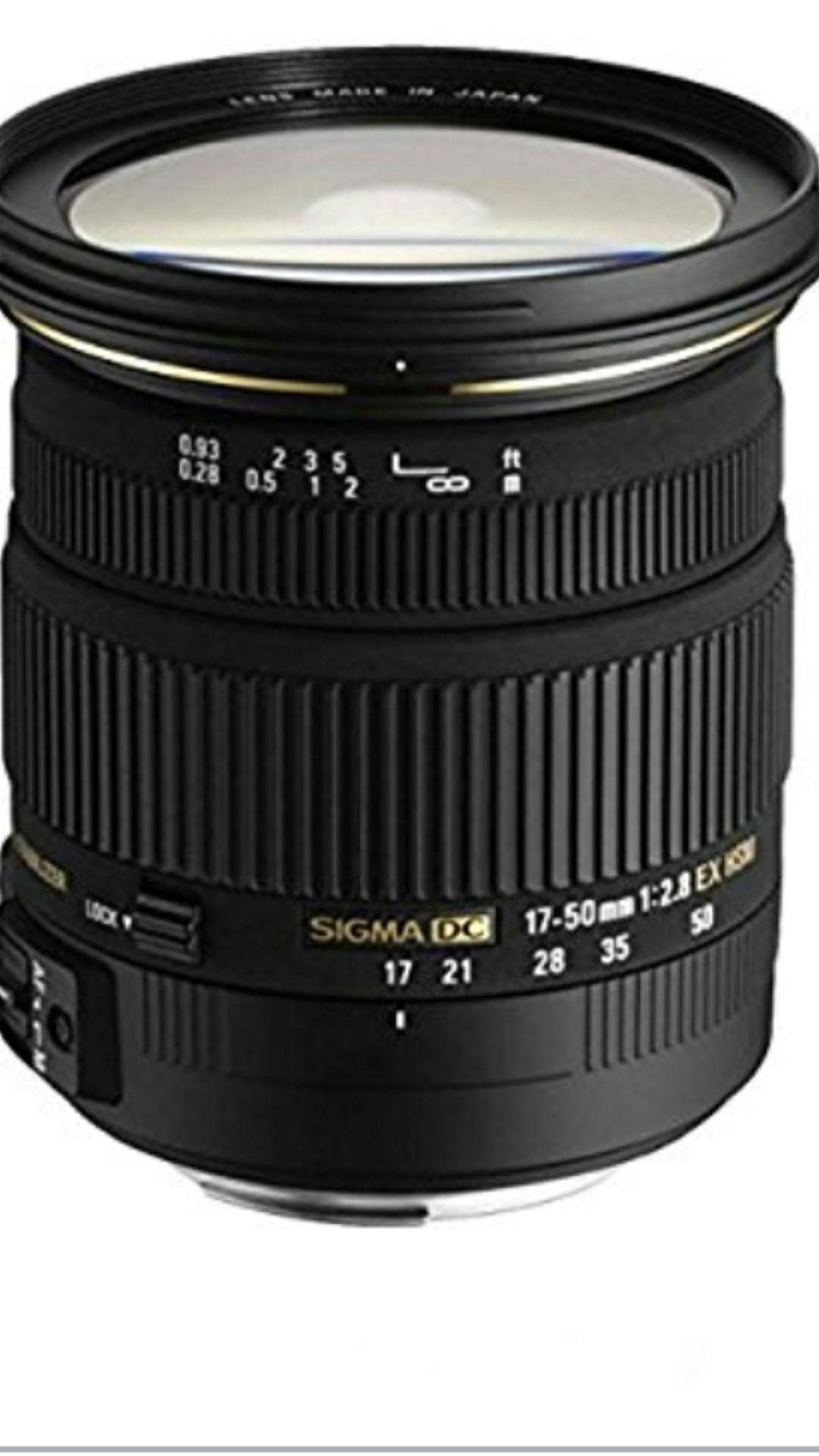Sigma 17-50mm F2.8 EX DC HSM-Objektiv für Nikon und Canon