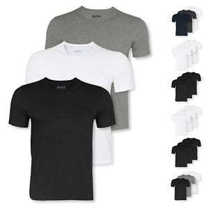 3er Pack HUGO BOSS T-Shirts V-Neck oder Crew-Neck