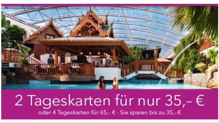 SIEBEN WELTEN - Thermen- und Saunawelt: 2 Tageskarten 35€ oder 4 Tageskarten 65€