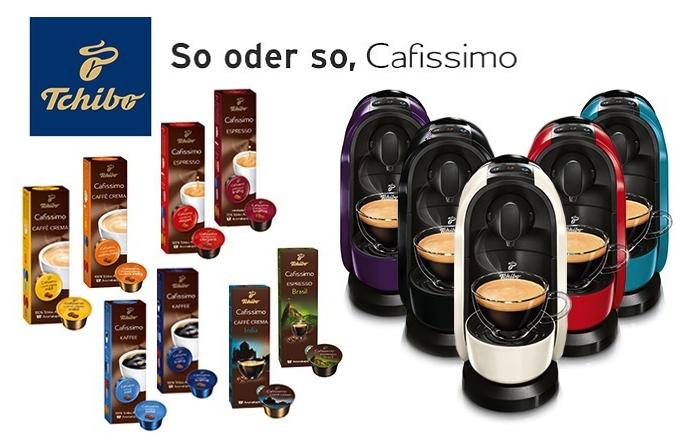 Tchibo Cafissimo Pure Kaffeemaschine + 80 Kaffee-Kapseln für 29,95€ bei Rakuten