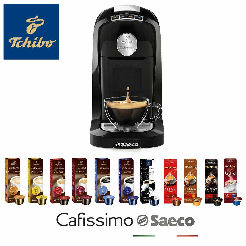 TCHIBO Cafissimo SAECO TUTTOCAFFÈ +110 Kapseln Kaffeemaschine unchromed für 39,99 € bei Ebay