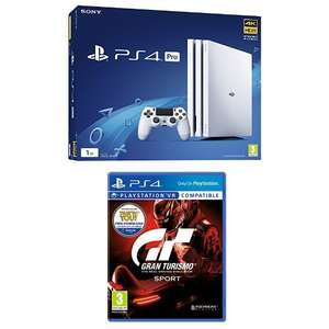 Playstation 4 Pro weiß + Gran Turismo: Sport für 344€ (Amazon.co.uk)