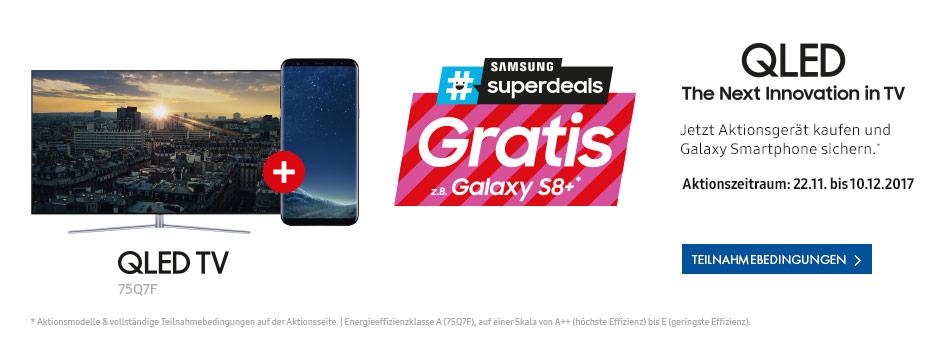 Samsung QLED QE55Q7C + Samsung Galaxy A5 Gratis bei Euronics Online/Offline