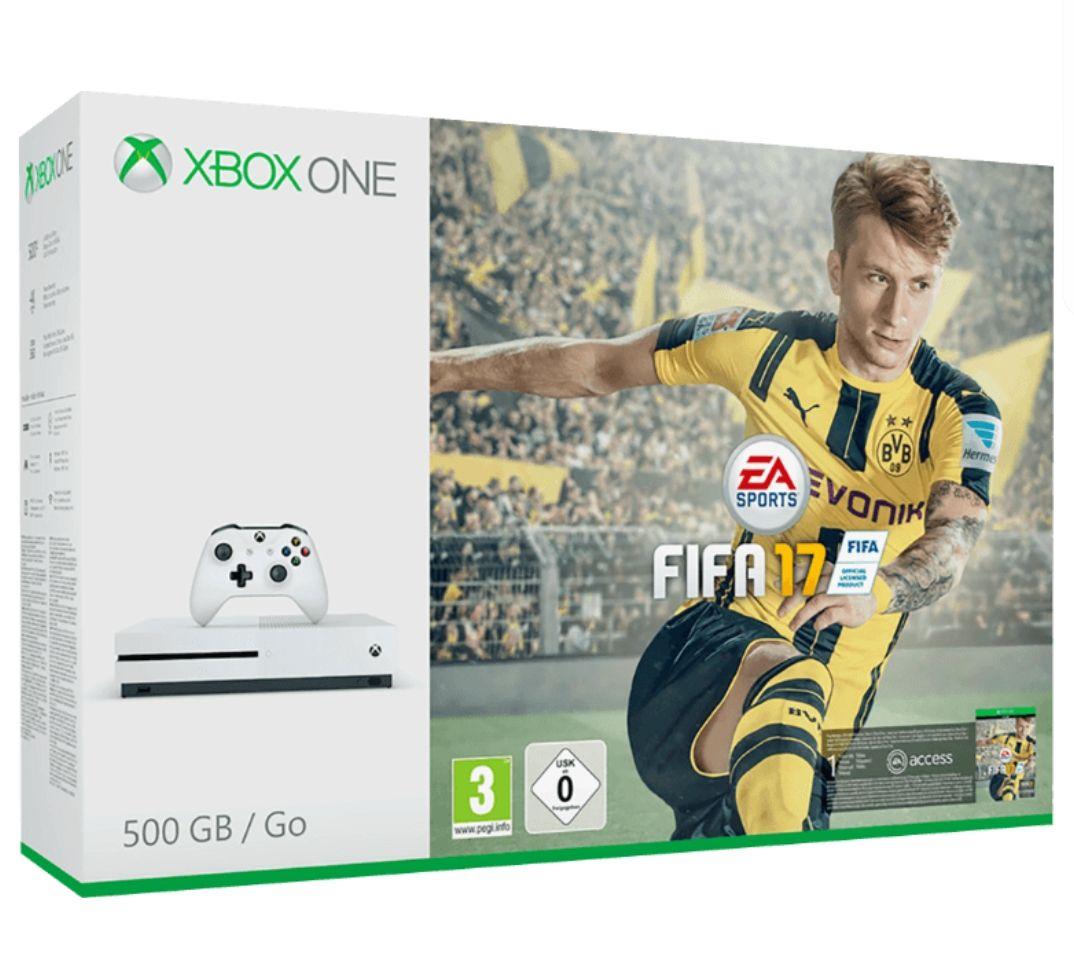 [AUSVERKAUFT BITTE LÖSCHEN] Xbox One S 500GB + FIFA 17