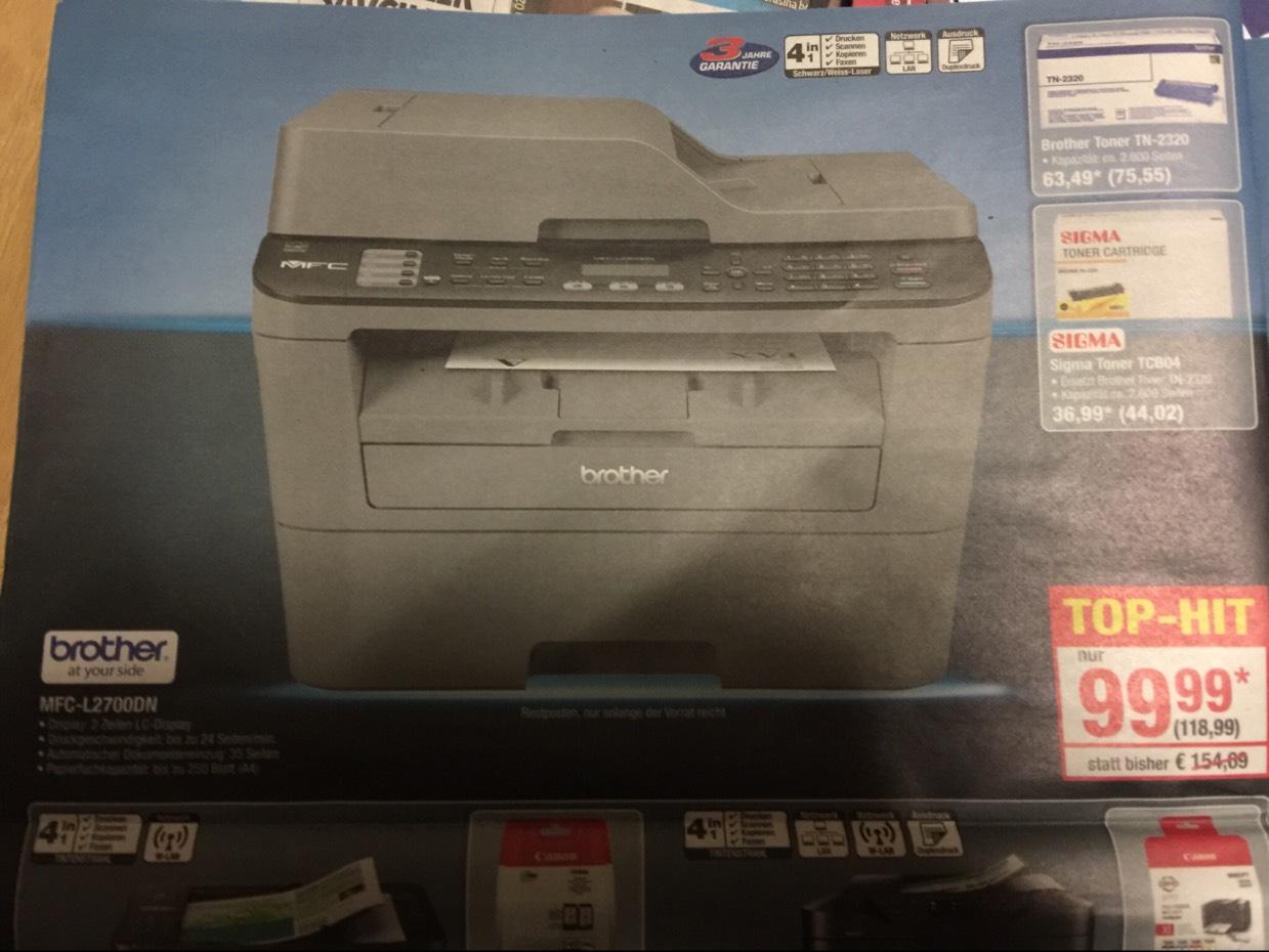 Brother MFC-L2700DN 4-in-1 Drucker mit Duplex und Lan @Metro
