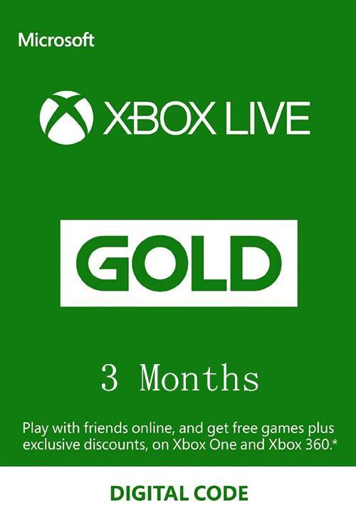 Xbox Live 3 Monate für 11,09€