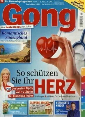 3 Monate Gong als Schnupper Abo für 29,90€ +25€ Verrechnungsscheck