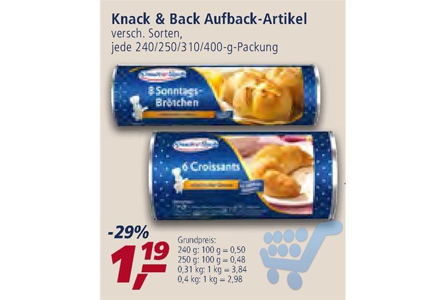 [Real] Knack & Back Rosinen Schnecken, Croissants und Brötchen mit Coupon nur noch 0,69€