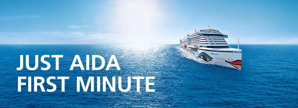 JUST AIDA First Minute Kreuzfahrten Aktion ab 06.12 z.B. Perlen am Mittelmeer 3 o. 4 inkl. Flug ab 599 €