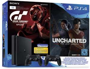 PlayStation 4 Konsole Slim 1 TB + Gran Turismo Sport + Uncharted: Lost Legacy +2ter Controller
