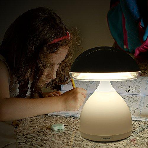 @Amazon Kinder Nachttischlampe, Minkle Mini LED Kinderlampe mit Vibrationsschalter und Basis mit Farbwechsler für 7 Farben, Weiß 9,60 Eur