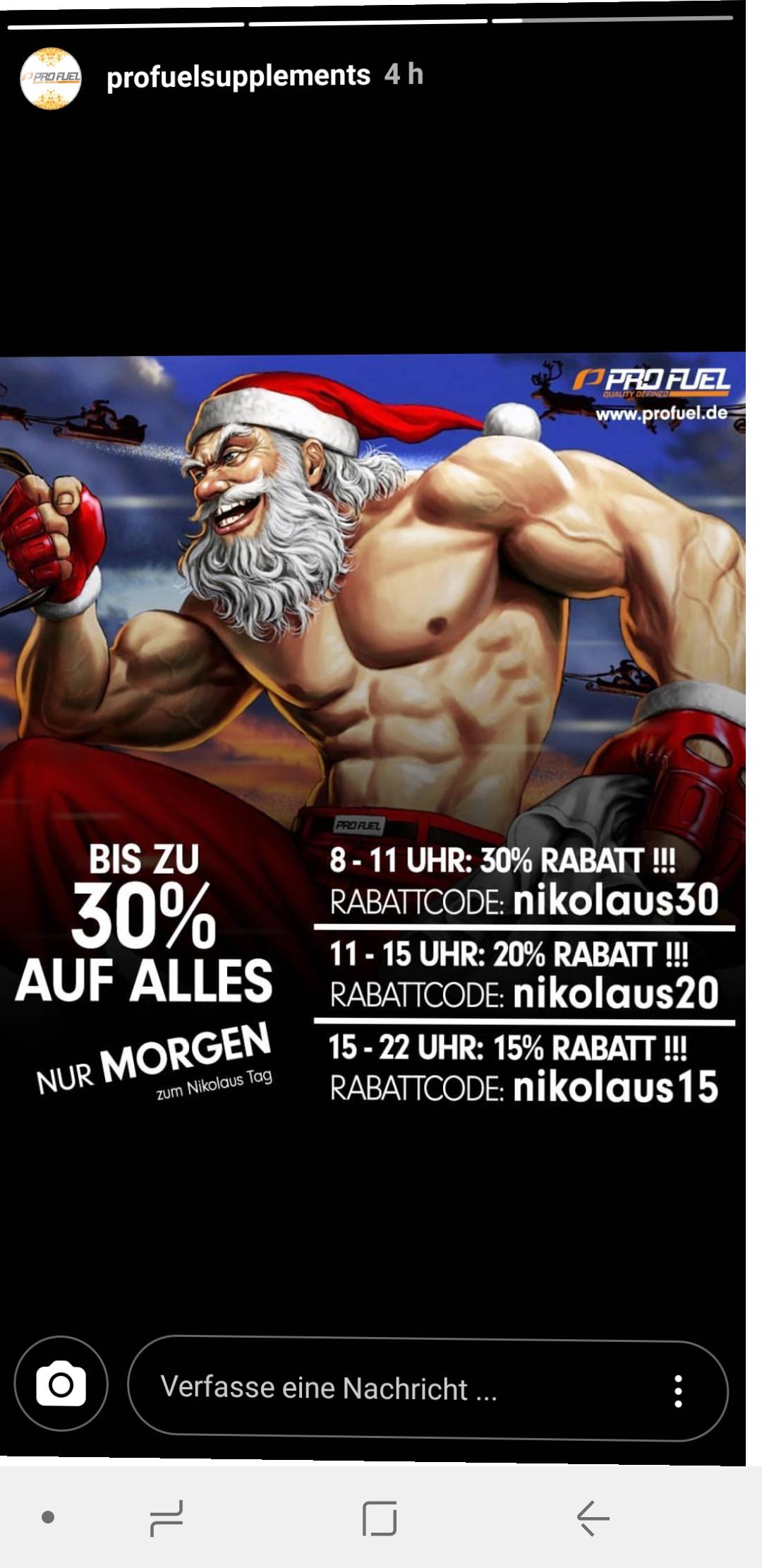 www.ProFuel.de Bis 11 Uhr 30% Rabatt - danach 20 und 15%