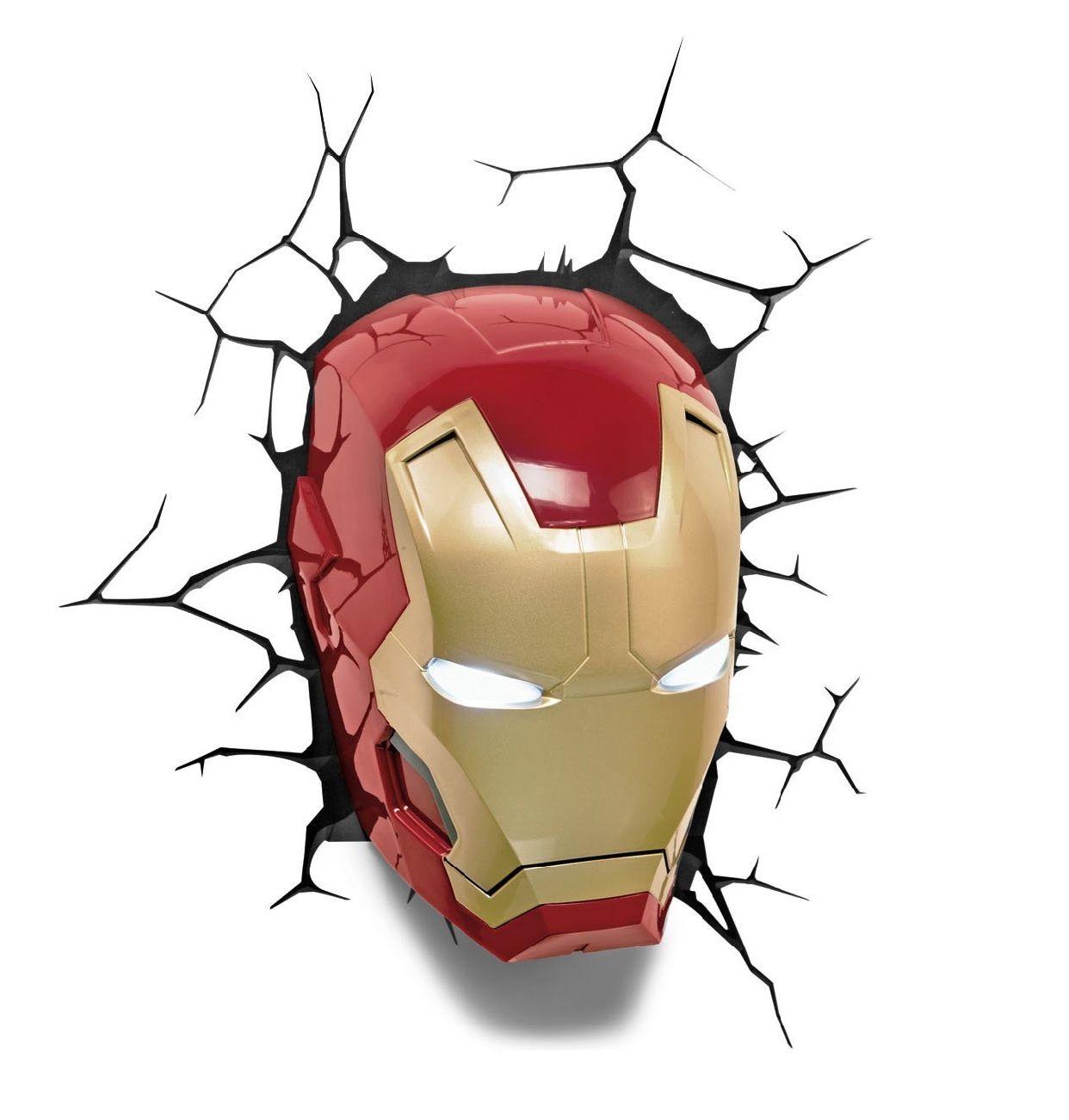 Iron man 3D Kopf Lampe