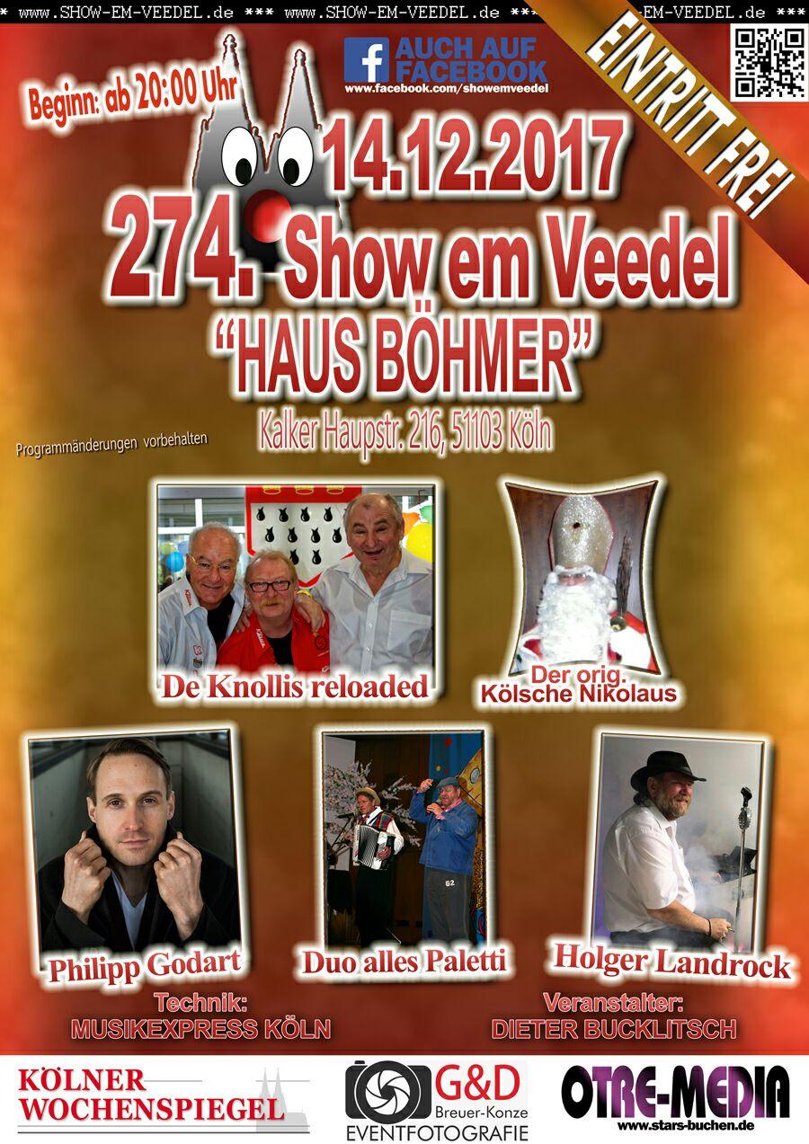 Köln - 274. Show em Veedel - 14.12.2017 - 20 Uhr - Eintritt frei