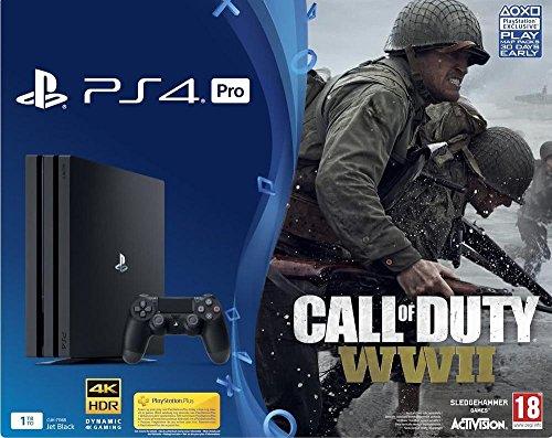 [amazon.fr] PS4 Pro 1TB + CoD WWII für 355,58€ statt 444€ / PS4 Pro 1TB + 2. Controller für 345,77€ statt  426€ // PS4 Pro 1TB + FIFA 18 für 354,67€ statt 399€ // PS4 Pro 1TB + 2. Controller + GTA V + Destiny 2 für 395,48€ statt 499€