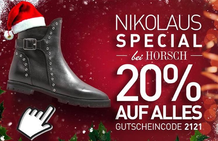 Horsch Schuhe online: 20% + kostenloser Versand nur Heute am 6.12.17