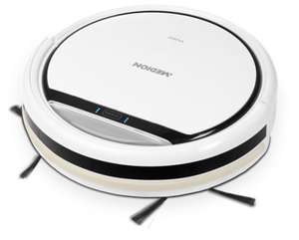 MEDION® Saugroboter MD 16192, automatische & gründliche Reinigung, Betriebsdauer bis zu 80min., Staubbehälterkapazität ca. 0,3l, weiß