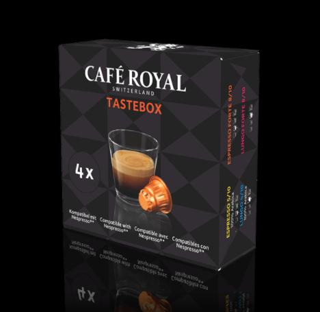Kostenlose Probierbox Café Royal - Nespresso kompatible Kapseln