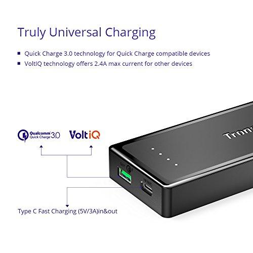 Amazon Blitzangebot: Power-Bank Tronsmart Presto 10400mAh, Input USB-C 5V/3A, Output USB-C 5V/3A + micro-USB QC3.0. Nur bis 14:00 Uhr. Mal nicht von Xiaomi.