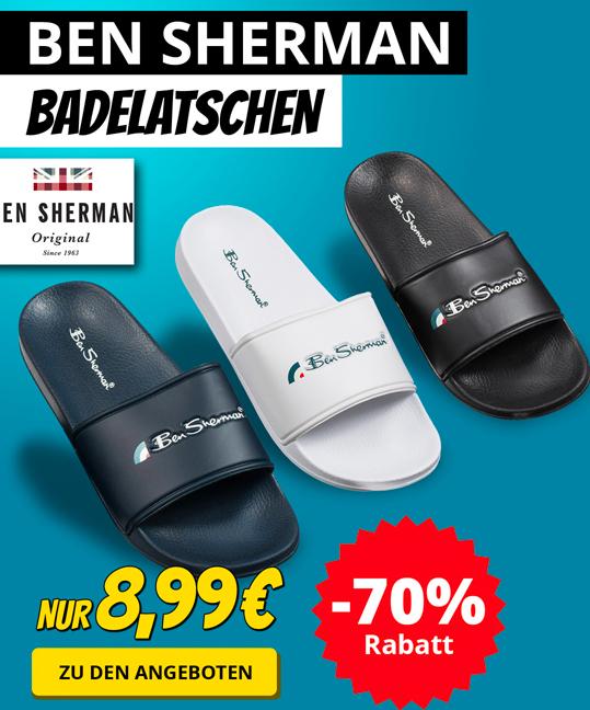 Ben Sherman-Sale bei SportSpar: Badelatschen für 12,94€ / Boots für 43,94€